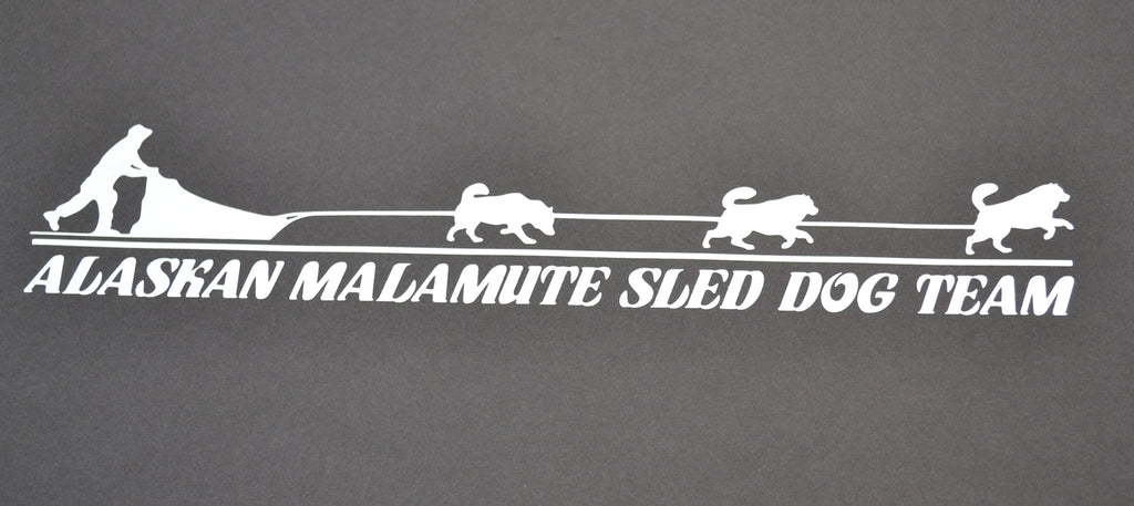 Sticker: Alaskan Malamute Sled Dog Team