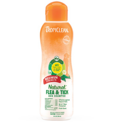Natural Flea and Tick Shampoo 355ml (Tropiclean)