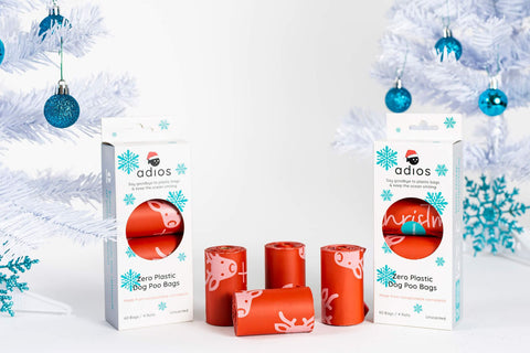 CHRISTMAS Compostable Poo Bags (Adios)