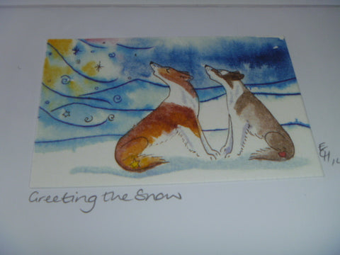 "Greeting Card - ""Greeting the Snow"" (day)"