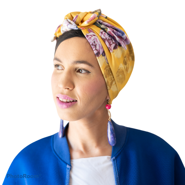 TURBANS || printed lemon
