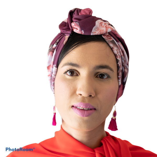 TURBANS || printed magenta