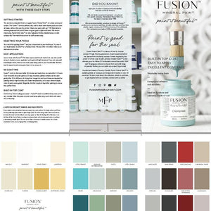 New Fusion Mineral Paint Color Card Digital Download - FREE