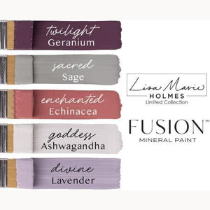 Now available, the Lisa Marie Holmes Collection with Fusion Mineral Paint