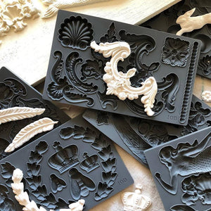 IOD Decor Moulds - Sea Sisters, Classic Elements, Fleur-de-lis, Classical Cherubs, Wing and Feathers, Laurel, and Swags Decor Moulds by Iron Orchid Designs