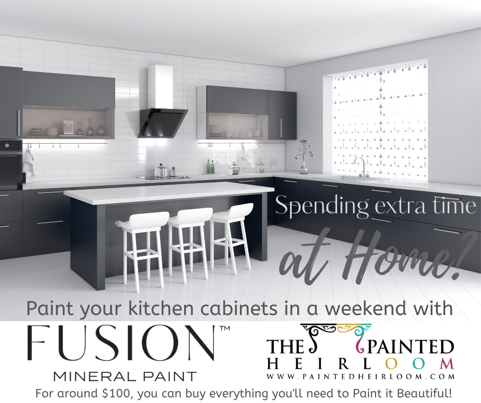 Repaint Your Kitchen Cabinets with Fusion Mineral Paint for $100