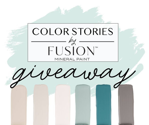 Fusion Mineral Paint April 2019 Color Story Six Pint Giveaway Contest