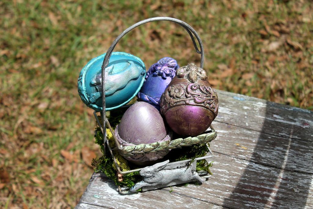 IOD Moulds by Iron Orchid Designs & Fusion Mineral Paint Easter Egg Class