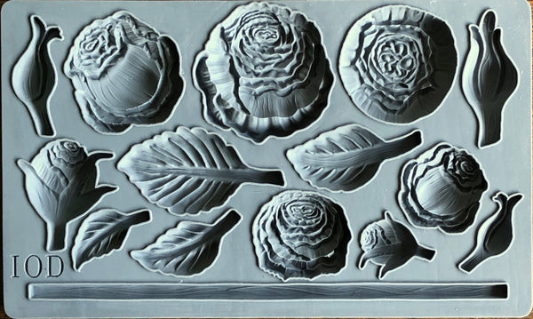 IOD Heirloom Roses Mould by Iron Orchid Designs Fall 2019 Release