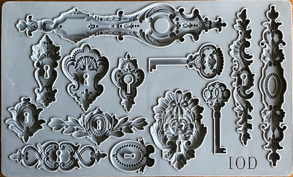 IOD Lock and Key Mould by Iron Orchid Designs Fall 2019 Release