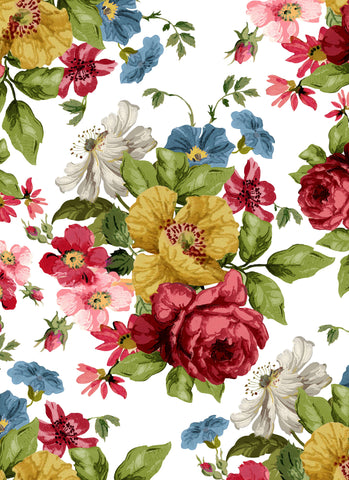 "IOD Wallflower Transfer by Iron Orchid Designs (24"" x 33"")"