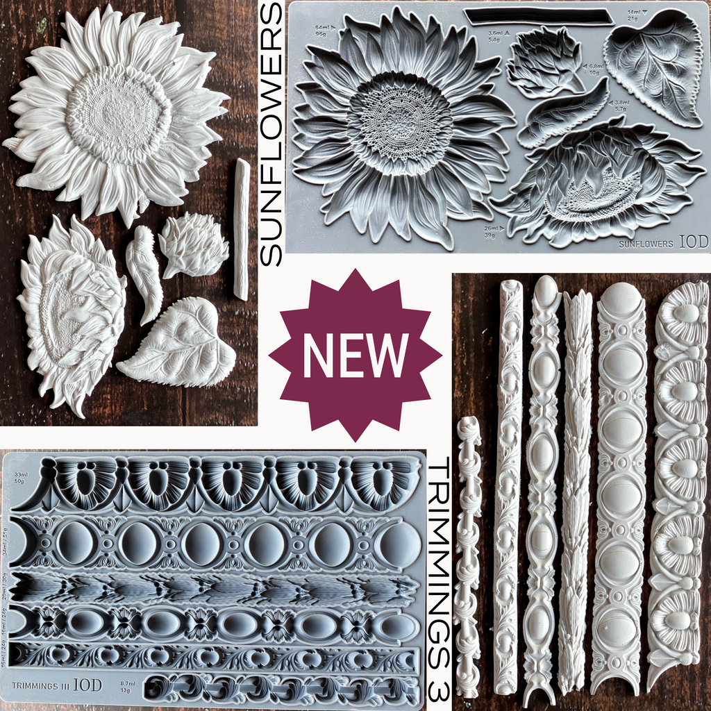 IOD Sunflowers and Trimmings 3 Moulds