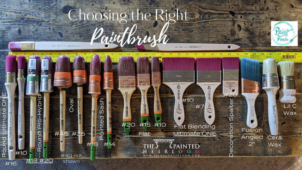 How to pick the right Staalmeester Oval Round Flat Point Sash Fitch. Fusion Mineral Paint, and Paint Pixie Paintbrush For the Project