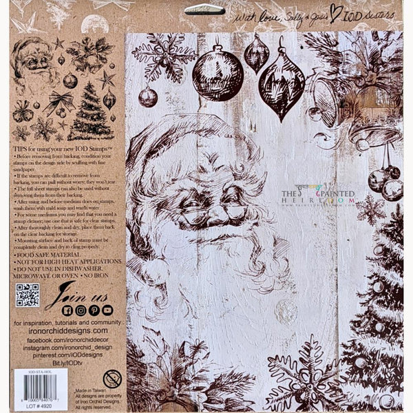 IOD Holly Jolly Decor Stamp with Reusable Masks by IOD - Iron Orchid Designs @ The Painted Heirloom