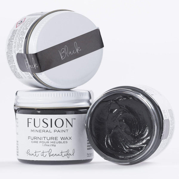 Fusion Mineral Paint Black Furniture Wax @ The Painted Heirloom