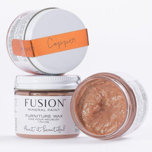 Fusion Mineral Paint Copper Metallic Furniture Wax @ The Painted Heirloom