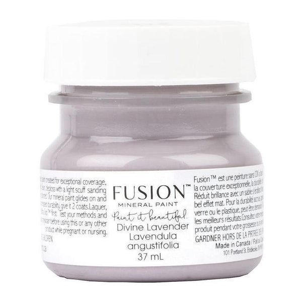 Divine Lavender Fusion Mineral Paint 1.25 oz - 37mL Tester Bottle @ The Painted Heirloom