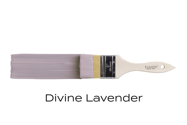Divine Lavender Fusion Mineral Paint brush stroke @ The Painted Heirloom