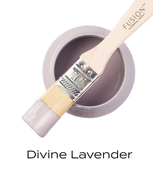 Divine Lavender Fusion Mineral Paint Pint with brush @ The Painted Heirloom