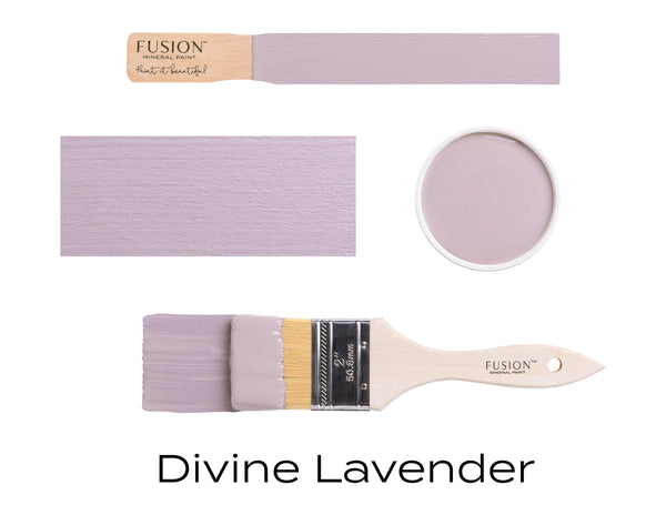 Divine Lavender Fusion Mineral Paint stick block brush sample set @ The Painted Heirloom