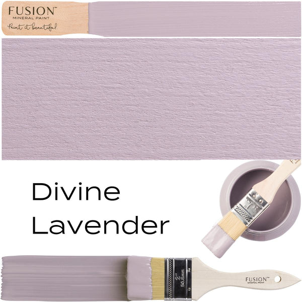 Divine Lavender Fusion Mineral Paint Swatch Example @ The Painted Heirloom