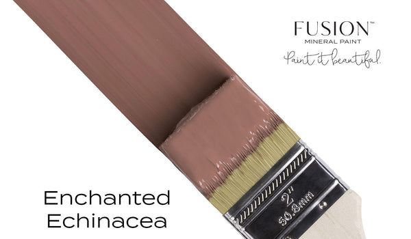 Enchanted Echinacea Fusion Mineral Paint angled brush stroke @ The Painted Heirloom