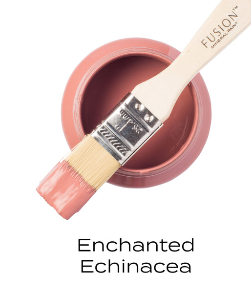 Enchanted Echinacea Fusion Mineral Paint Pint with brush @ The Painted Heirloom