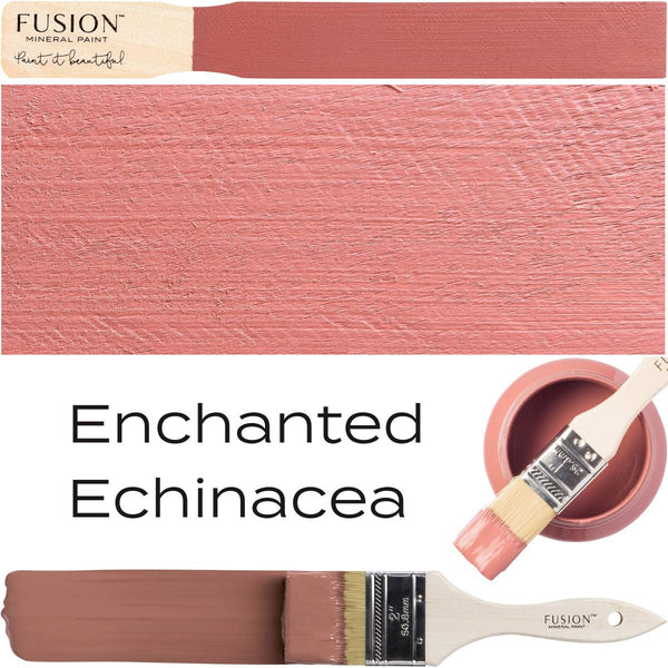 Enchanted Echinacea Fusion Mineral Paint Color Swatch Example @ The Painted Heirloom