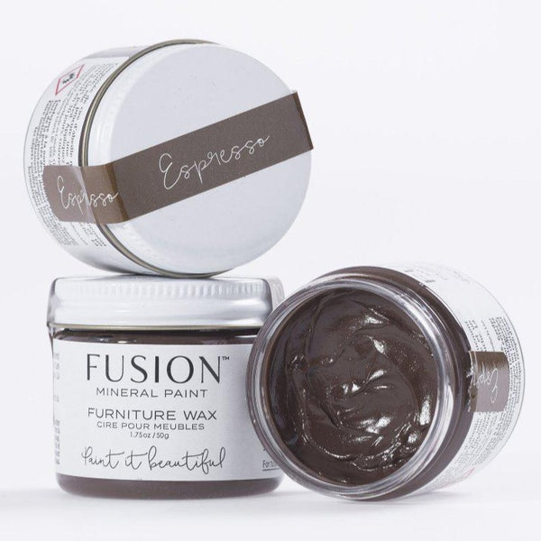 Fusion Mineral Paint Espresso Furniture Wax @ The Painted Heirloom