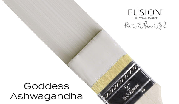 Goddess Ashwagandha Fusion Mineral Paint angled brush stroke @ The Painted Heirloom