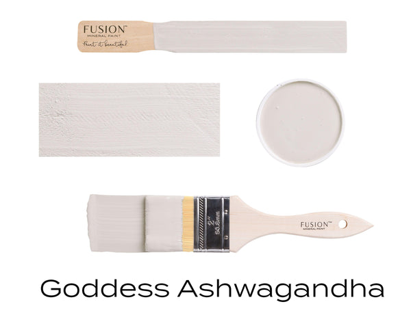 Goddess Ashwagandha Fusion Mineral Paint stick block brush sample set @ The Painted Heirloom