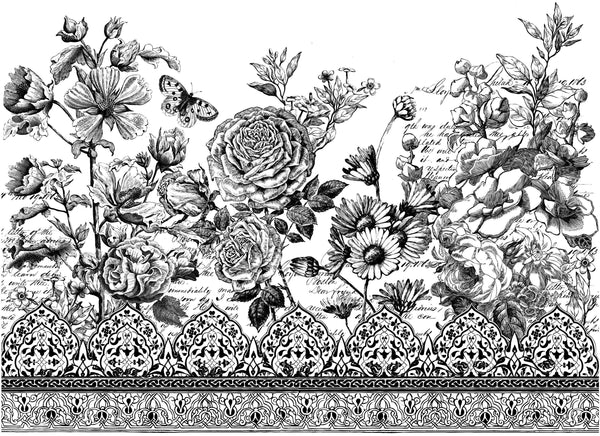 "I.O.D. Astoria Foliage Paintable Decor Transfer (24""x33"") by Iron Orchid Designs @ The Painted Heirloom"