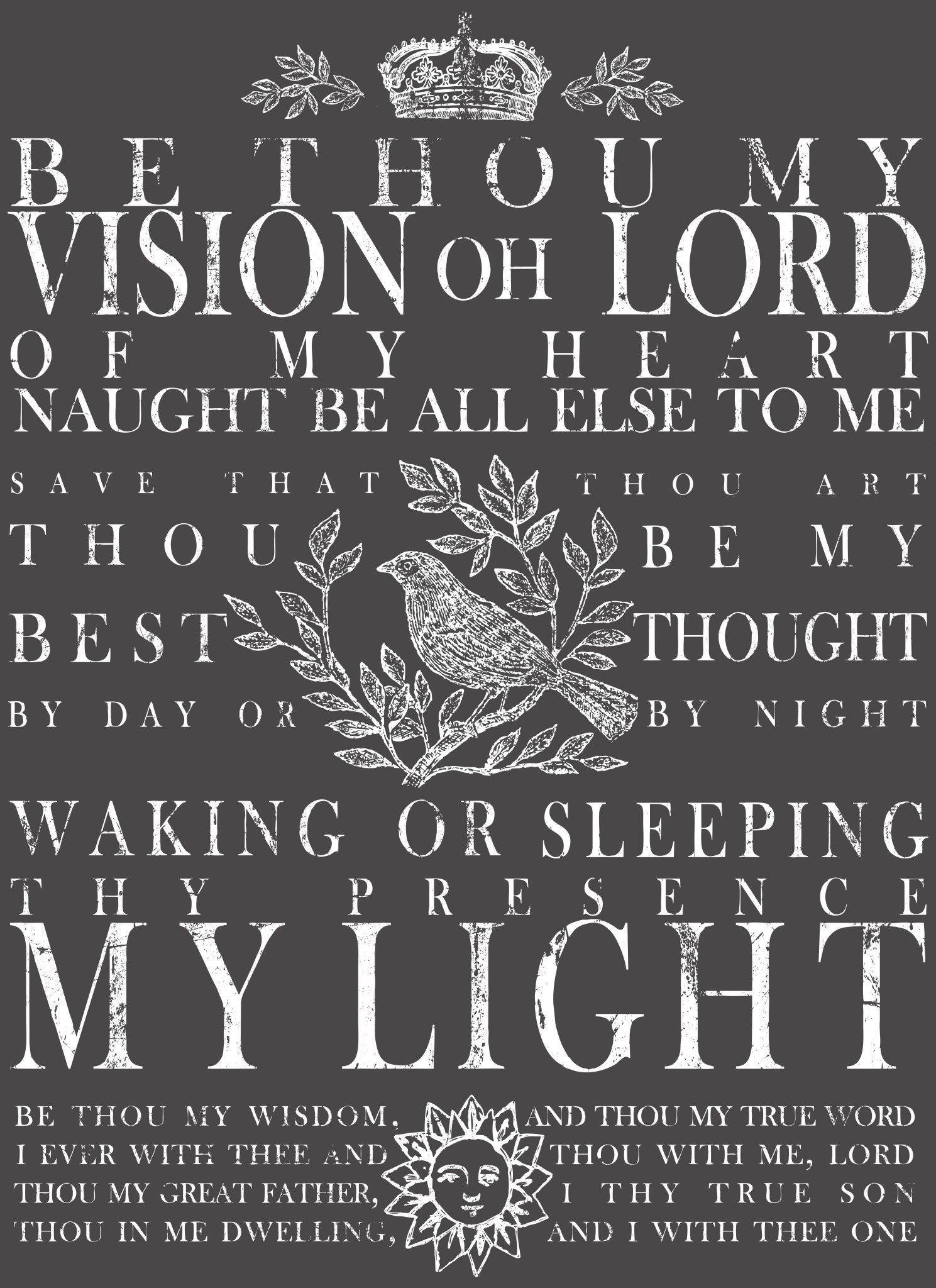 IOD Be Thou My Vision White Transfer by Iron Orchid Designs @ The Painted Heirloom