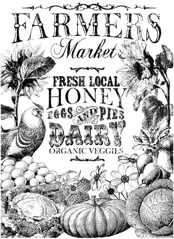 "Farmer's Market Paintable Decor Transfer (24""x33"") by IOD - Iron Orchid Designs - Retiring"