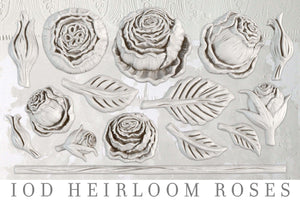 IOD Heirloom Roses Decor Mould™ by Iron Orchid Designs - new Fall 2019 Release