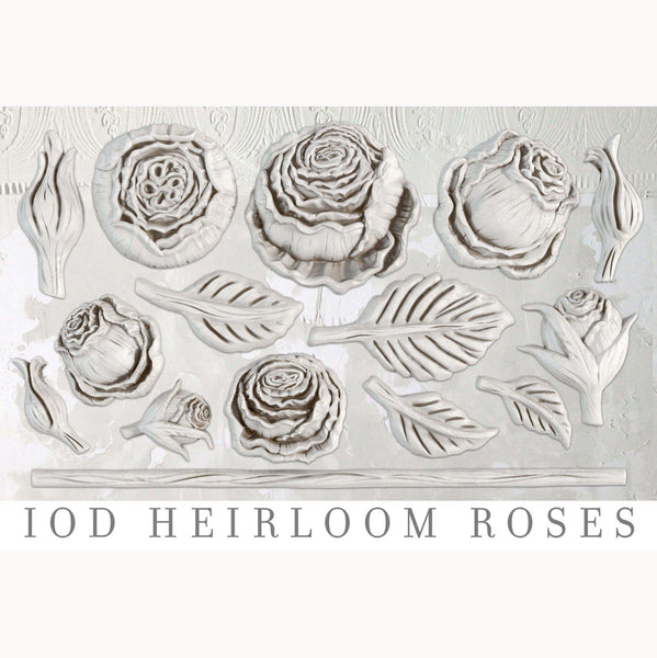 IOD Heirloom Roses Decor Mould by Iron Orchid Designs - new Fall 2019 Release