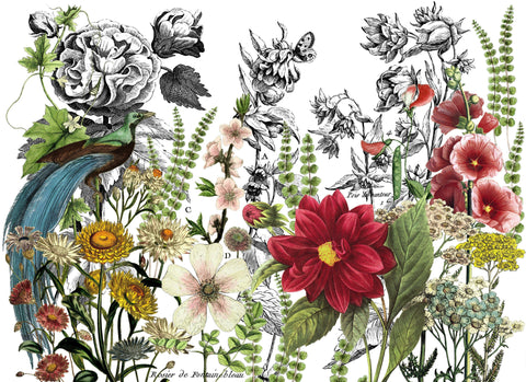 "I.O.D. Midnight Garden Decor Transfer (24""x33"") by Iron Orchid Designs @ The Painted Heirloom"