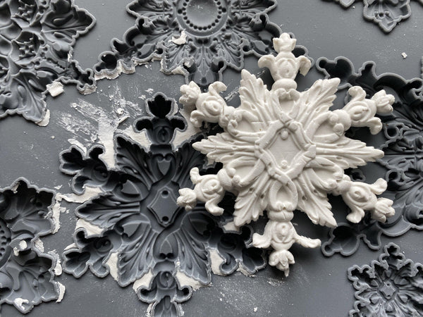 IOD Snowflakes Decor Mould by Iron Orchid Designs @ The Painted Heirloom