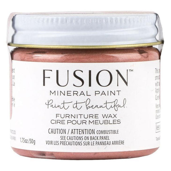 Fusion Mineral Paint Rose Gold Metallic Furniture Wax @ The Painted Heirloom
