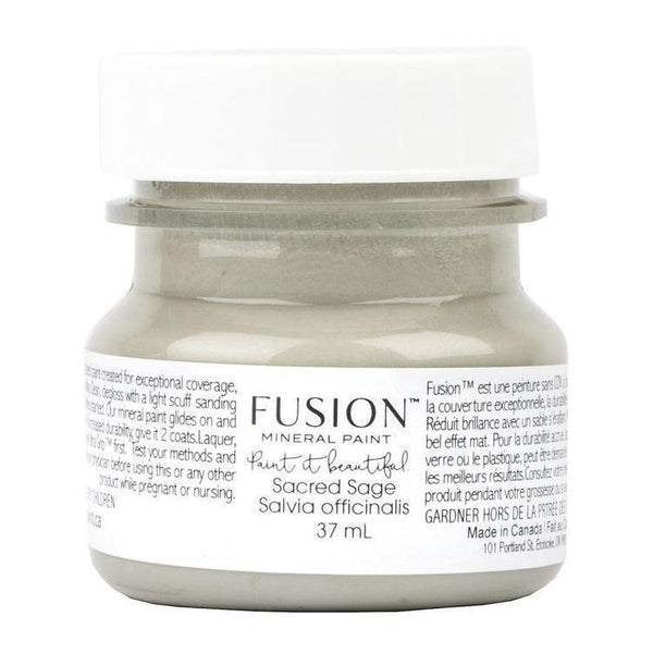 Sacred Sage Fusion Mineral Paint 1.25 oz - 37mL Tester Bottle @ The Painted Heirloom