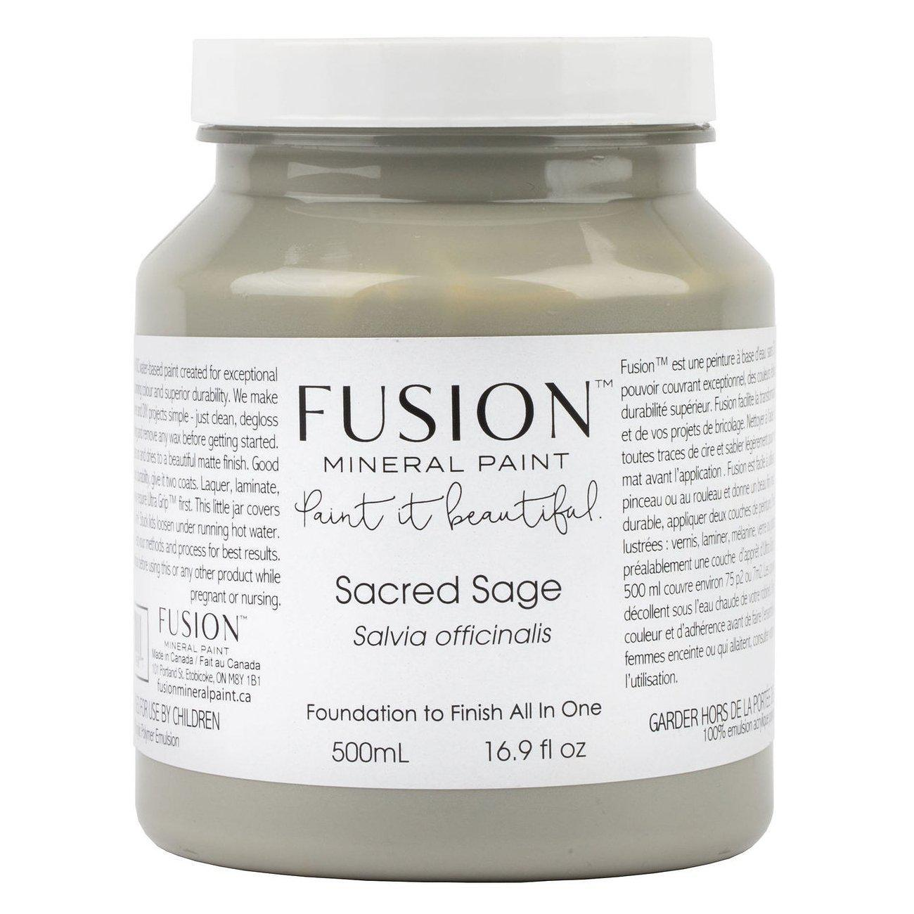 Sacred Sage Fusion Mineral Paint Pint - 500mL Bottle @ The Painted Heirloom