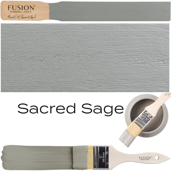 Sacred Sage Fusion Mineral Paint stick block brush sample set @ The Painted Heirloom