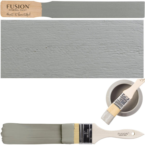 Sacred Sage Fusion Mineral Paint Color Swatch Example stick block brush sample set @ The Painted Heirloom
