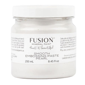 Fusion Mineral Paint Smooth Embossing Paste - Pearl @ The Painted Heirloom