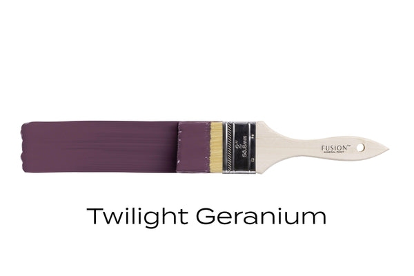 Twilight Geranium Fusion Mineral Paint brush stroke @ The Painted Heirloom