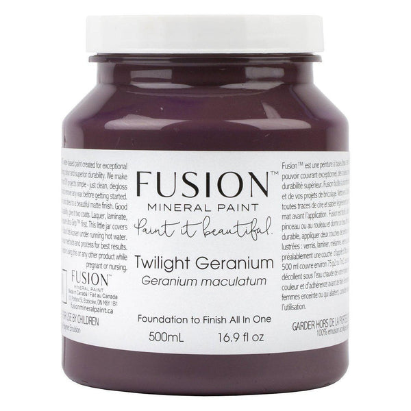 Twilight Geranium Fusion Mineral Paint Pint - 500mL Bottle @ The Painted Heirloom