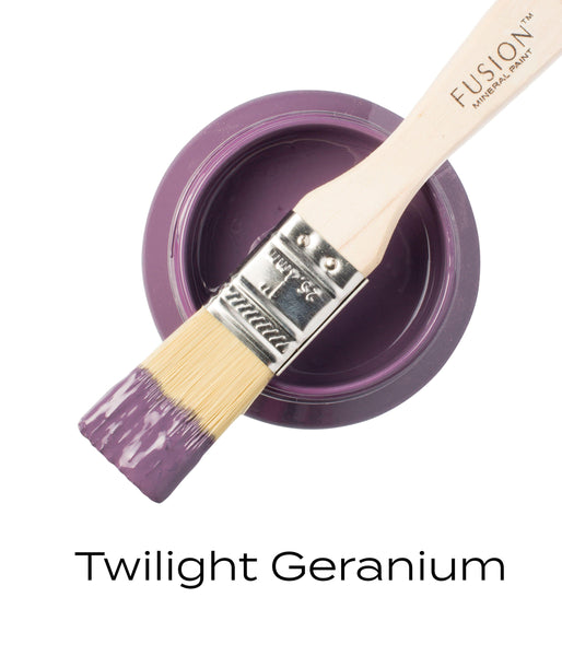 Twilight Geranium Fusion Mineral Paint Pint with brush @ The Painted Heirloom