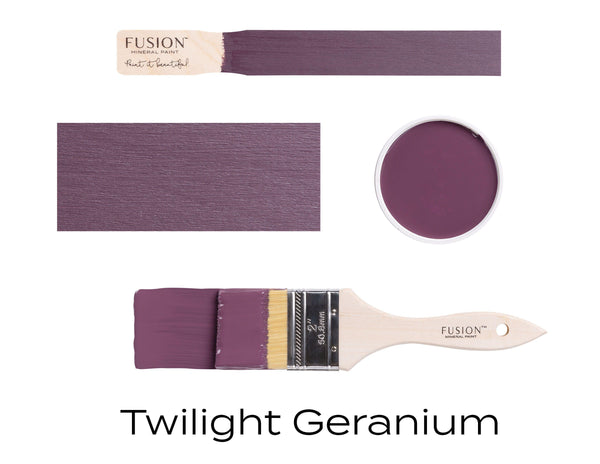 Twilight Geranium Fusion Mineral Paint stick block brush sample set @ The Painted Heirloom
