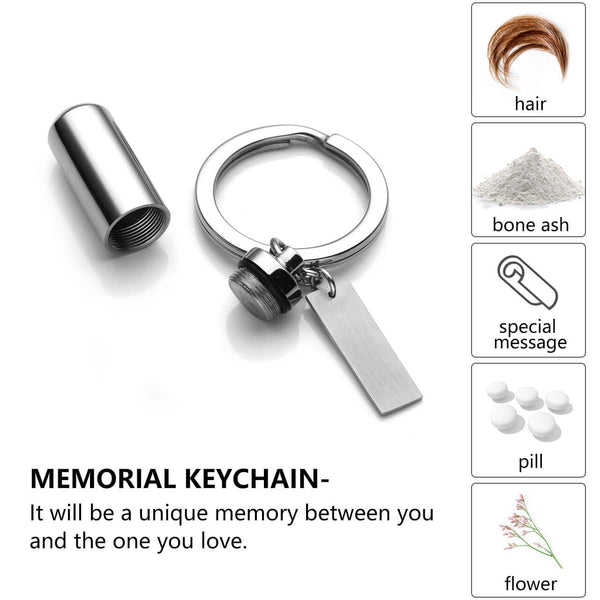 jovivi openable customize memorial urn keychain  for keepaske ashes