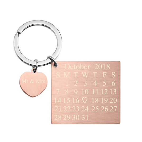 jovivi valentine's day gift personalized custom calendar keychain for couples, jnf002704